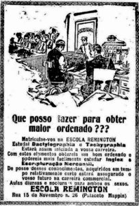 curso de datilografia escola remington