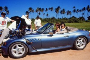BMW Z3 durante as filmagens